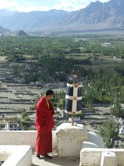 Warm morning sun at Thikse Gompa in Leh