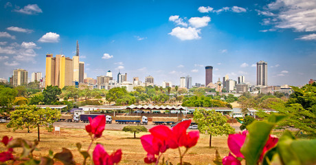 Panoramic view on Nairobi , Kenia.