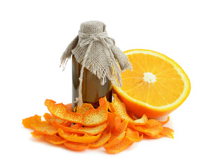 Orange dried peel.