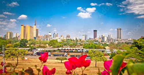 Canvas Overige Panoramic view on Nairobi , Kenia.