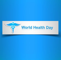 Caduceus medical symbol beautiful World health day colorful back