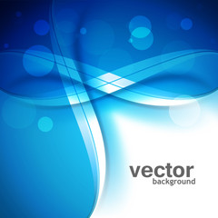 Beautiful blue creative wave colorful vector background illustra