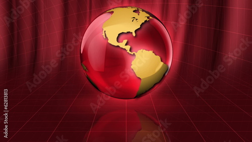 3D Glass Sphere Seamless Background
