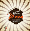 Pizza retro background