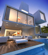 Contemporary house with pool bunker 2