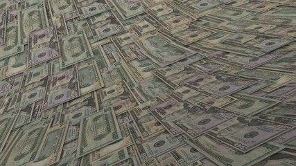 Dollars Looped Motion Money Background