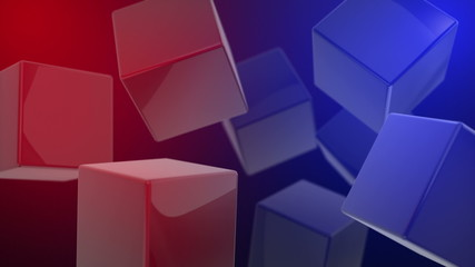 3D Abstract Cubes Seamlessly Looped Background