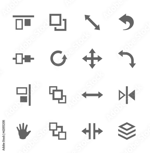 Layout control icons