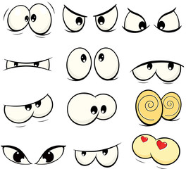 The complete set of the drawn eyes