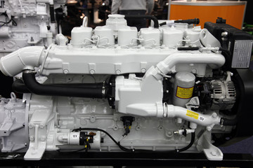 Modern engine used on marine industry
