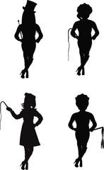 dominatrix in silhouette