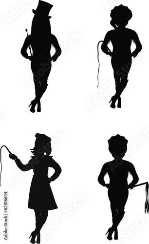 dominatrix in silhouette