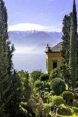 Varenna-Lecco Lake-City detail color image