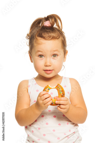 Asian girl with donut