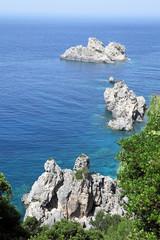 Seascape near Paleokastritsa. Corfu Island, Greece.
