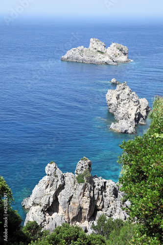Seascape near Paleokastritsa. Corfu Island, Greece.