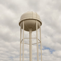A white water tower in Silver Bow County, Montana.