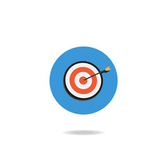 Vector of Business target icon on white background