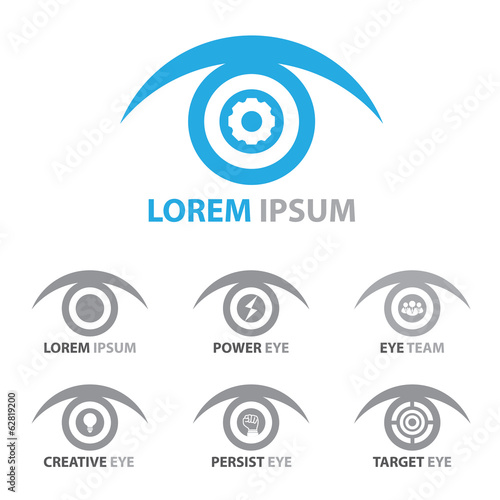 eye icon symbol set