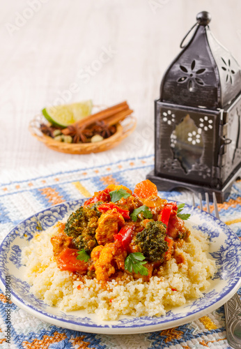 Couscous marocain wih chicken and vegetables