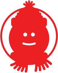Christmas snowman avatar