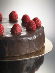 sweet food dessert, chocolate cake with strawberries