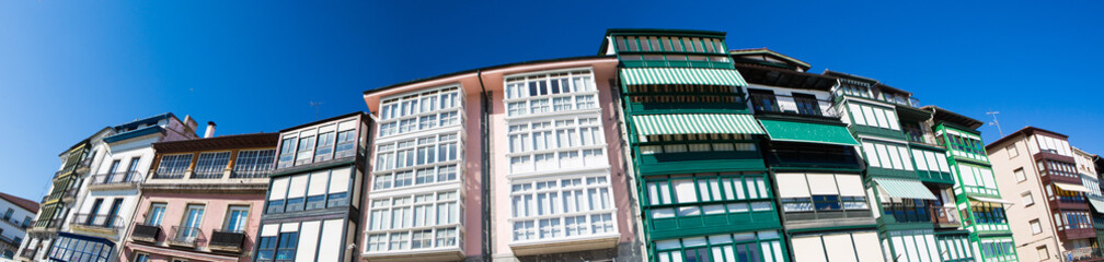 Detail of facades in Lekeitio