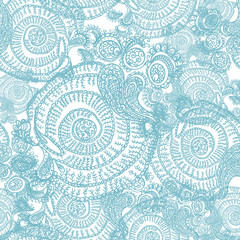 Abstract seamless background with curls