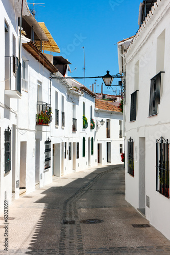 Streets of Mijas Pueblo in Spain