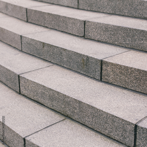 Stone steps in a city.