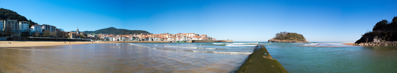Panoramic View of the beach of Lekeitio