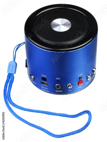 Blue mini portable speaker