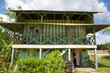 Traditional palm worker house in Costa rica