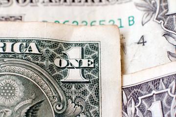 Dollars fragment closeup