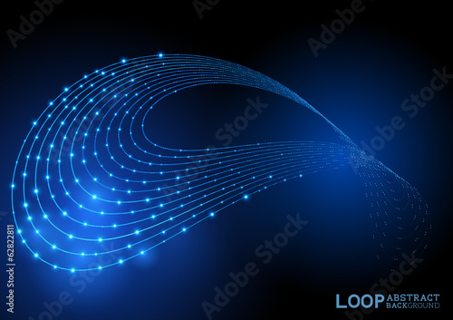 Abstract Loop Background