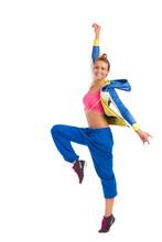 Instruktor tańca Zumba uśmiechem