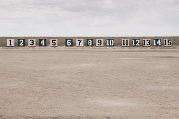 Firing range in the desert, in Elko County, Nevada, USA