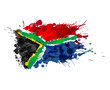 South African flag made of colorful splashes - 62824842