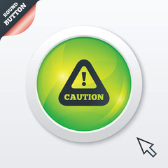 Attention caution sign icon. Exclamation mark.