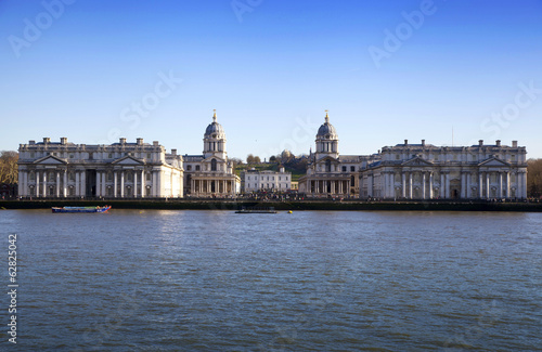 LONDON, UK - MARCH 16, 2014: Greenwich view and river Thames