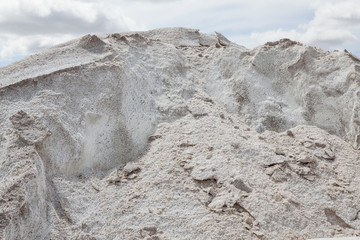 Pile of salt used for road maintenance