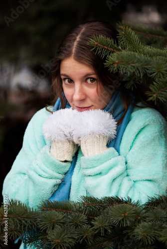 Young woman feeling cold