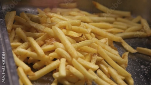 Cook hands with french fries