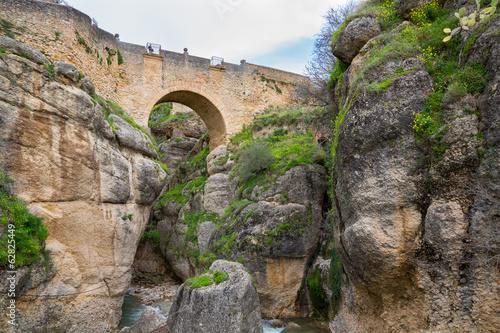 View of Ronda Bridge and canyon