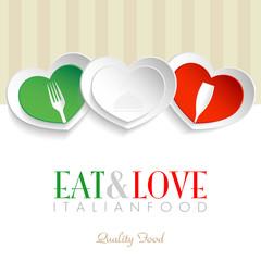 Eat & Love - Italian Logo
