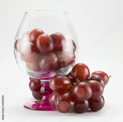 grapes and  goblet