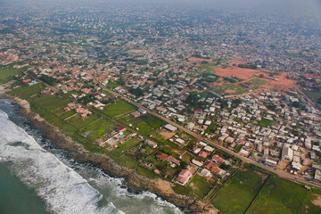 Coastal development on outskirts of Accra, Ghana
