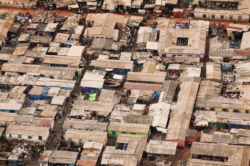 Slum on outskirts of Accra, Ghana