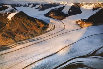Logan Glacier aerial, Wrangell-St. Elias National Park, Alaska