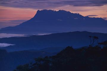 Mount Kinabalu at dawn, Sabah, Borneo